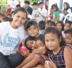 Youth participant with children of Sitio Tubo-Tubo, Brgy. during Global Peace Foundation Philippine's GPV Camp 2016