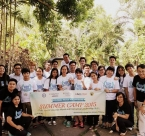 Group photo of Global Peace Volunteers Summer Camp 2015 in Philippines