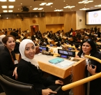 International Young Leaders Assembly participants at the United Nations in 2015.