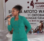 Jokate Mwegelo addresses youth at women's leadership event