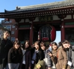 Japanese and Korean students at Korean Independence Museum.