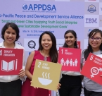 APPDSA forum participants hold SDGs