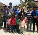 RiseNepal volunteers with Nepalese children
