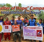 Campaign to raise 1,000 shelters for Nepal Earthquake victims, supported by the Global Peace Foundation