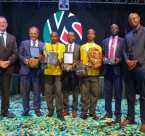 Winers of Young Scientist hold awards