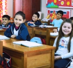 Global Peace Foundation - Education in Paraguay - Children sitting at desks