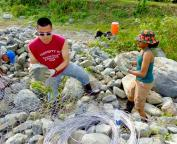 Construction of Gabions - Global Peace Development - Dominican Republic
