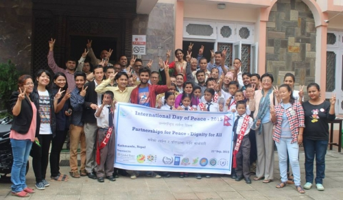 Nepalese Pose after International Day of Peace Forum