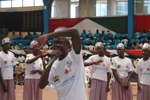 Kenyan youth celebrate at Festival