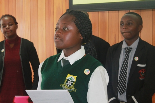 Youth presentation at stakeholders meeting