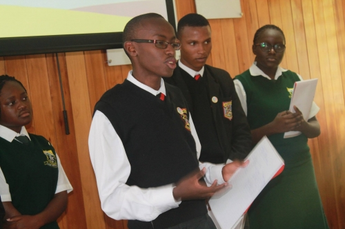 Youth presentation at Kenya Web Rangers meeting