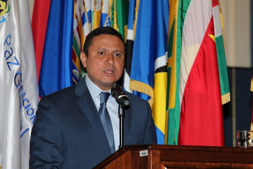 Carlos Morales, foreign minister of Guatemala, at the Organization of American States