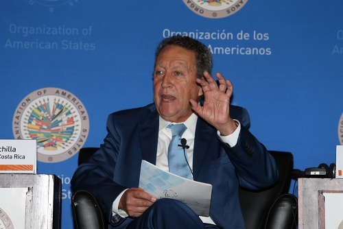 Vinicio Cerezo at Organization of American States