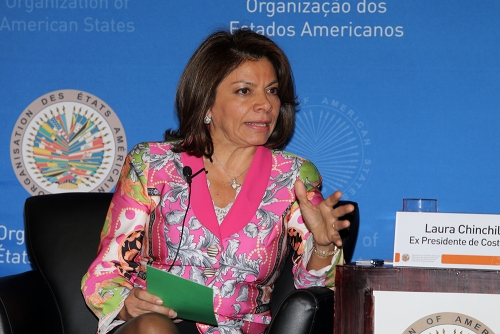 Laura Chinchilla at the Organization of American States