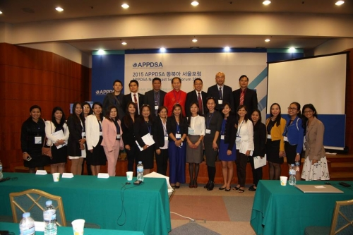 Group photo at the end of the program. APPDSA Northeast Seoul Forum 2015