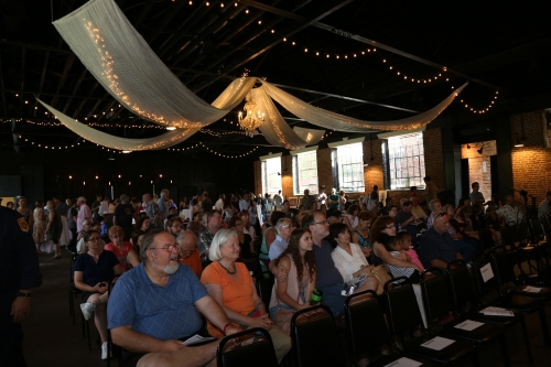 Audience at the Virginia Benefit Program.