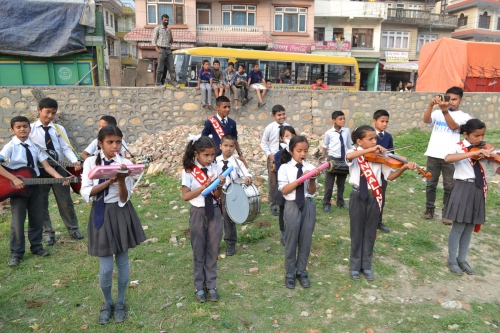Celebrations of dance commence before Bagmati River clean up event.
