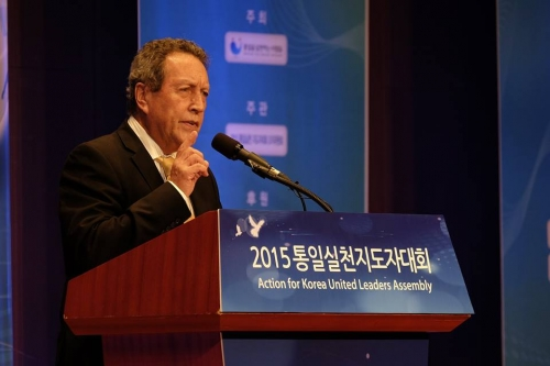"Former President of Guatemala Vinicio Cerezo expresses his solidarity to support ""One Dream One Korea"" by saying, ""There are collective causes that we need to support as humanity. I believe Korean unification is that cause."""