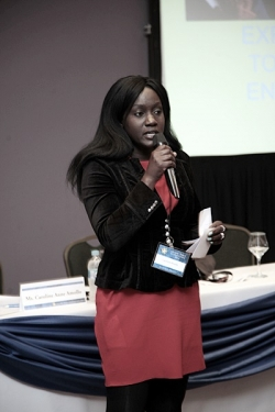 Caroline Amollo at Education Session during Global Peace Convention 2014