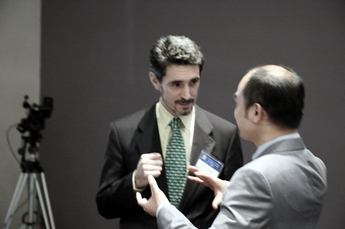 Marco Roncarati and Nicholas Lee at Global Peace Convention 2014