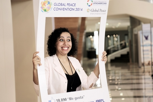 Participants engage in social media at Global Peace Convention 2014