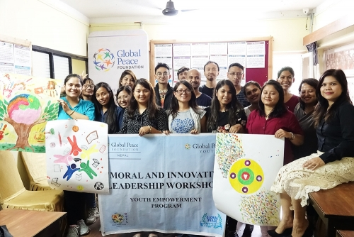 Group photo of moral and innovative leaders workshop