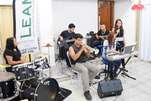 Music performance by LEAM.