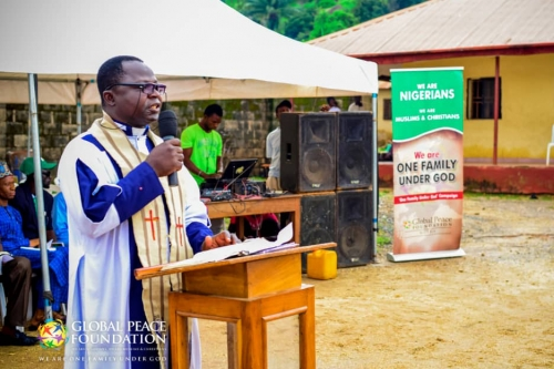 Pastor at the International Day of Peace
