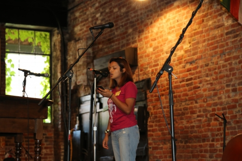 Sumina at VA fundraiser for Nepal relief efforts.