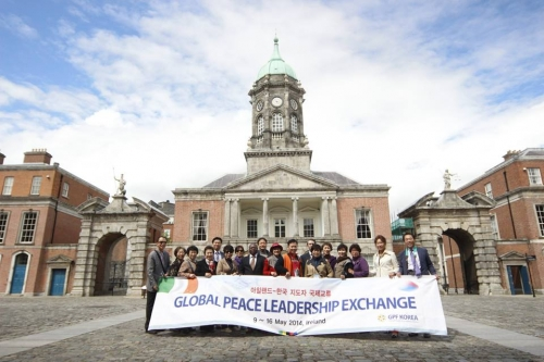 Global Peace Leadership Exchange at the Dublin Castle.