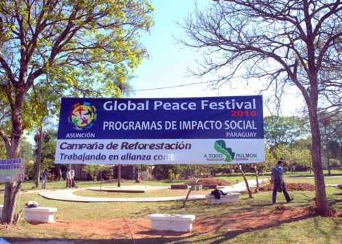 The launch of the Reforestation Campaign, initiated by the Global Peace Foundation Paraguay in 2010, was launched as part of its social impact programs in partnership with the Global Peace Foundation.
