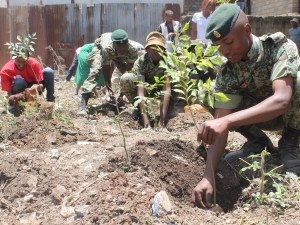 Kenya Military Officers Help Plant Trees
