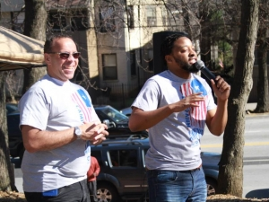 Dr. Paul Murray and Eldredge Washington at MLK Service Day 2015