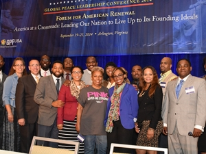 Delegation at Closing Plenary of Global Peace Leadership Conference 2014 USA