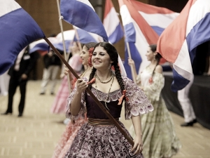 Traditional Paraguayan dancers at Global Peace Convention 2014
