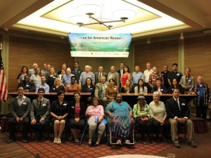 A group photo of participants and speakers at the Forum for American Renewal in Billings, Montana.