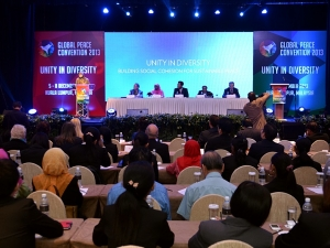 The Opening Plenary of the Global Peace Convention 2013.