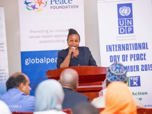 Mrs. Stella Vuzo, Information Officer at United Nations Information Center, provided introductory remarks on behalf of the organizing committee