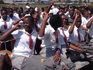 Students from Embakasi Girls High School, Kenya
